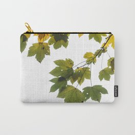 Green And Yellow Maple Leaf Carry-All Pouch