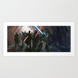 Last Stand of a Master Art Print