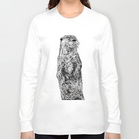 otter Long Sleeve T-shirts featuring Otter by Meredith Mackworth-Praed