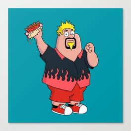 Family Guyfieri Canvas Print
