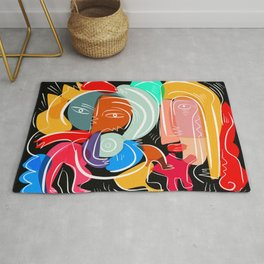Love your family expressionist cubist street art Rug