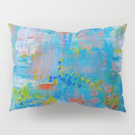 Colorful Abstract Wall Art, Vibrant colors, Contemporary home decor Pillow Sham