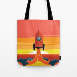 Deco Rocket Tote Bag