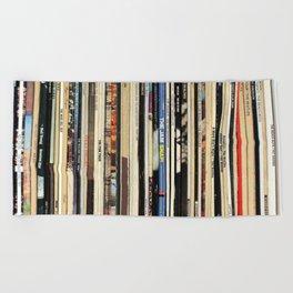 Classic Rock Vinyl Records Beach Towel