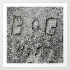 Bob - 47 St Art Print