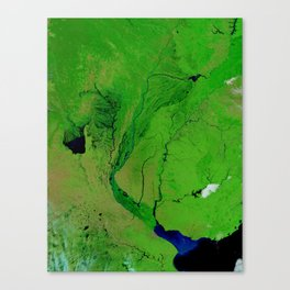 Floods in Argentina Canvas Print