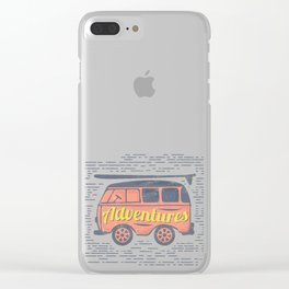 Adventure T-Shirt Clear iPhone Case