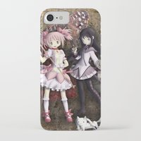 madoka magica iPhone & iPod Cases featuring Madoka by drawn4fans