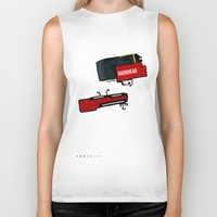 radiohead Biker Tanks featuring radiohead by julianesc