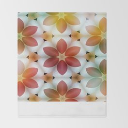 Polarized Flower Geometrics Throw Blanket