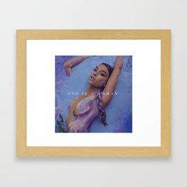 Ariana - God is a woman Framed Art Print