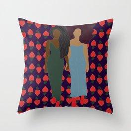 Strawberry Bawse Babes Throw Pillow