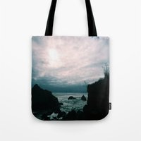 big sur Tote Bags featuring Big Sur by GBret