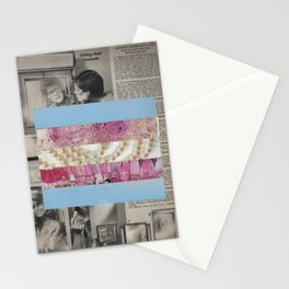 Mirrored Pride - Transgender Flag Collage by Mackenna Morse Stationery Cards