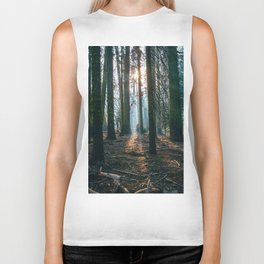 The woods are deep Biker Tank