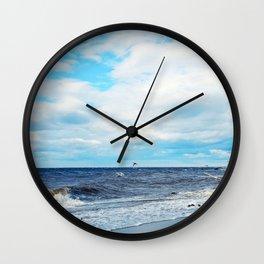 Flying Across the Beach Wall Clock