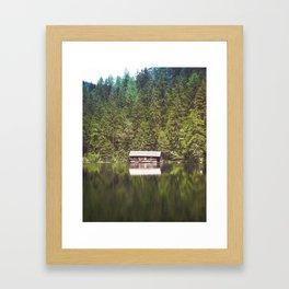 Cottage in the Forest (Color) Framed Art Print
