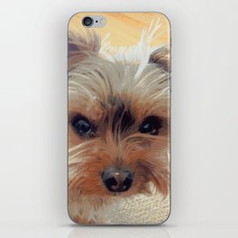 Yorkie | Dogs | Terrier | Pets | Humor | What!?! (with text) iPhone Skin