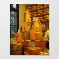 cheese Canvas Prints featuring Cheese! by AuFish92024