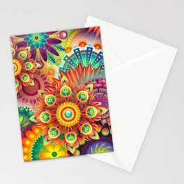 Abstract flowers Stationery Cards