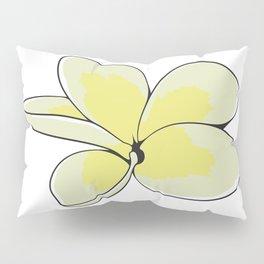 Frangipani Plumeria Flower Pillow Sham