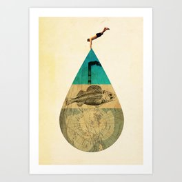 IN THE WATER Art Print