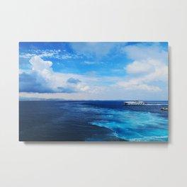 50 shades of Blue i Metal Print