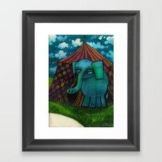 BLUE ELEPHANT.  Framed Art Print