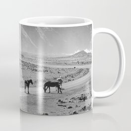 Wild Horses Cross the Road Coffee Mug