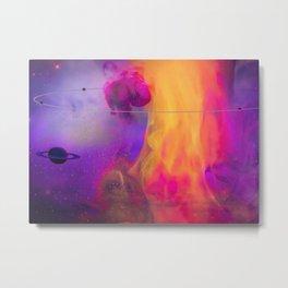 Neon Nebula Metal Print