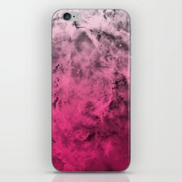 Liquid Space Nebula : Gray to Pink Ombre Gradient iPhone Skin