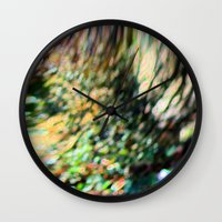 trippy Wall Clocks featuring trippy by Azure Moon Artworks