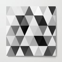 rombi black white Metal Print