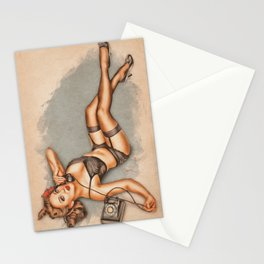 Pinup - Hello? Stationery Cards