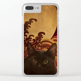 Japanese cat 74 Clear iPhone Case