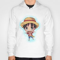 luffy Hoodies featuring Luffy by Midnight Tardis