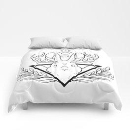 Lunar Rabbit / Jackalope // Black Comforters