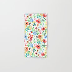 Flourish - Watercolor Floral Hand & Bath Towel