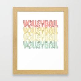 Volleyball Vintage Design Framed Art Print