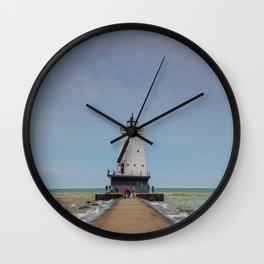 Ludington North Breakwater Light - Lake Michigan Wall Clock