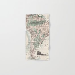 Vintage Map of South America (1858) Hand & Bath Towel