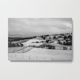 First winter snow in Oberon. NSW. Australia. Metal Print