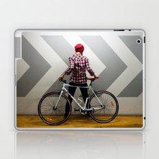 girl with bicycle Laptop & iPad Skin