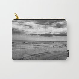 Driving on Assateague Island (Black and White) Carry-All Pouch