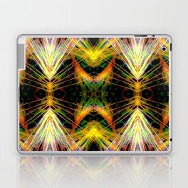 Yellow Bright Rays,Fractal Art Laptop & iPad Skin