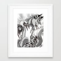digimon Framed Art Prints featuring + Digimon - Dorumon + by Xyeziaeos
