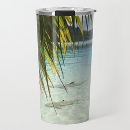 sharks in the ocean Travel Mug