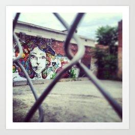 Girl on the Wall Art Print