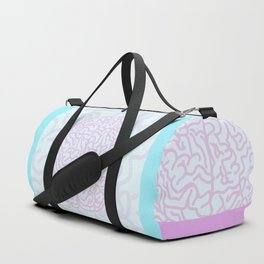 Pastel Brain Duffle Bag