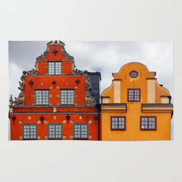 Stockholm. Colorful Houses in Gamla Stan Rug